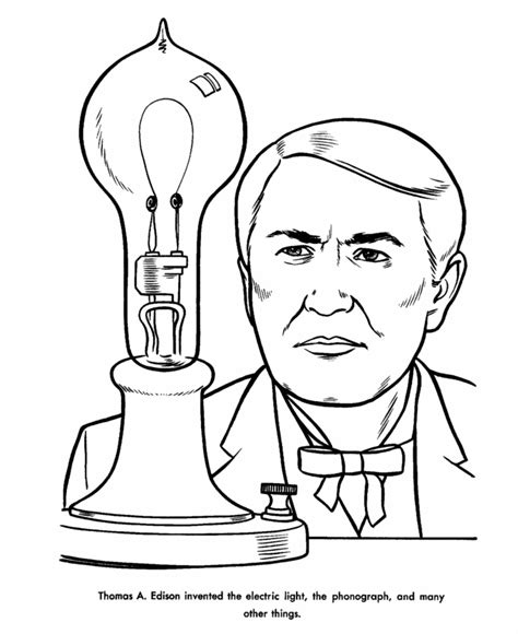 coloring pages for us history edison coloring page us history coloring pages