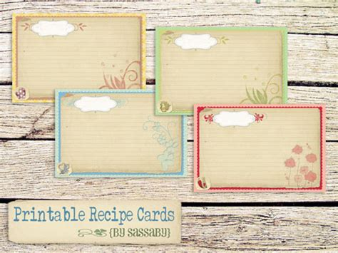 recipe note card template 25 free printable recipe cards home cooking memories
