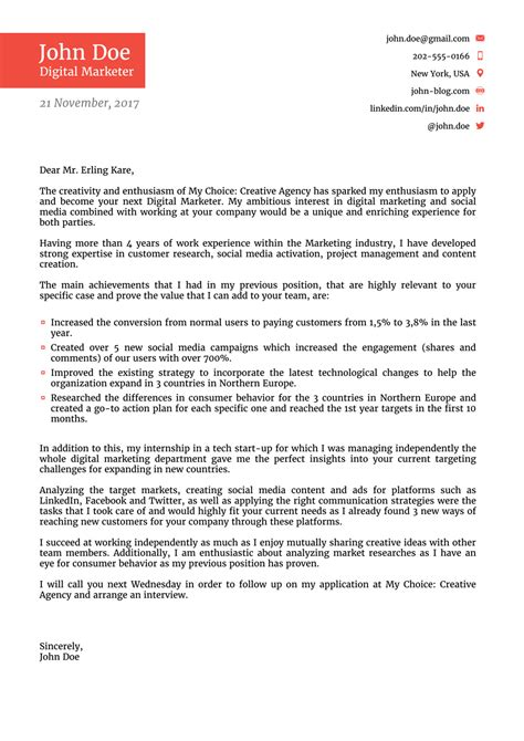 cover letter templates field updated