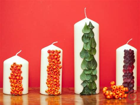 candele da decorare le candele decorate per l autunno casa e trend