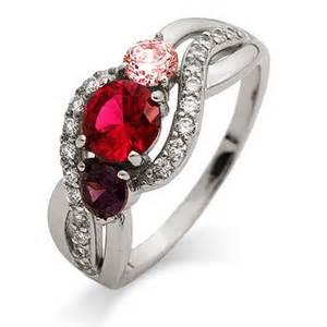 Infinity Birthstone Rings 3 Birthstone Infinity Swirl Custom S Ring S