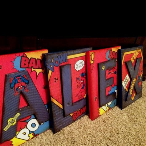 superhero bedroom accessories children s letters name wall decor spiderman by