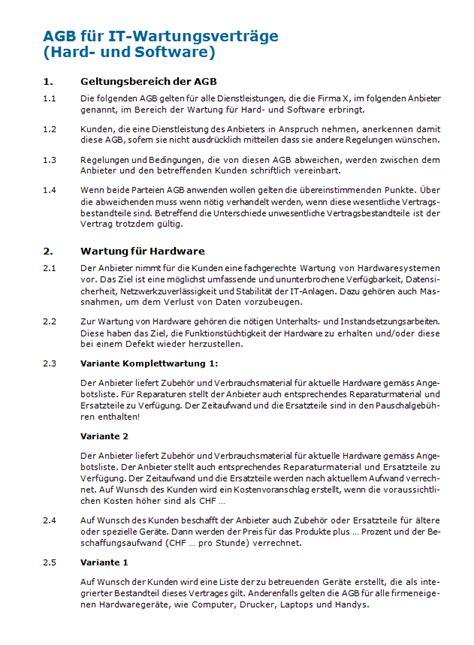 Muster Lizenzvertrag Schweiz Muster Service Level Agreement Sla Bas Tortechnik Prf Und Wartungsvertrag Muster