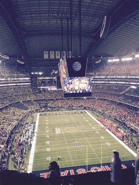 the nosebleed section stadium tech report at t stadium network a winner at cfp