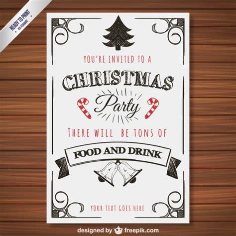 Kostenlose Vorlage Für Einladung Zur Weihnachtsfeier Weihnachtsfeier Plakat Vorlage Der Kostenlosen Vektor