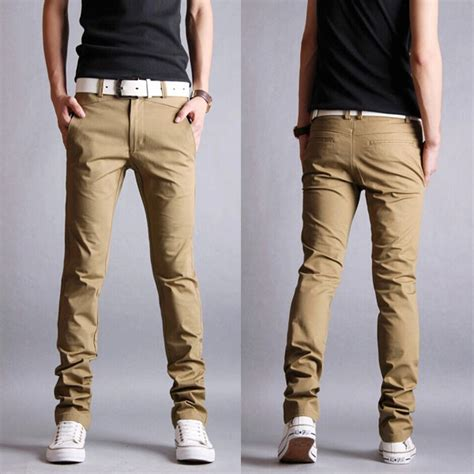Chino Pant 27 34 casual slim fit pencil cotton chino gonchas