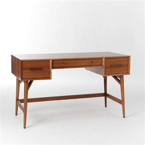 West Elm Office Desk by Midcentury Desk Acorn Modern Desks And Hutches By