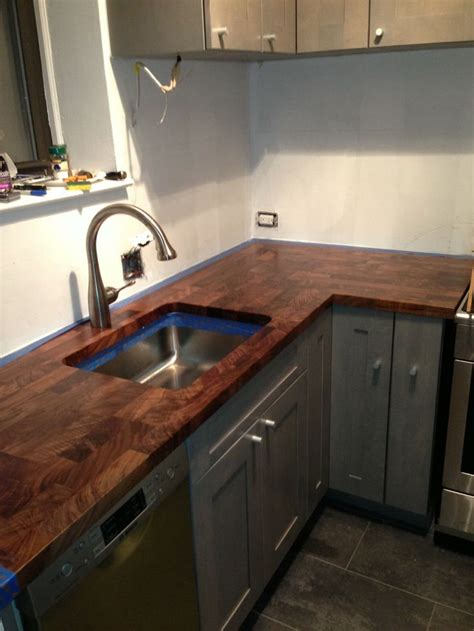 eco pro walnut countertop with undermount sink cutout eco pro wood countertops pinterest