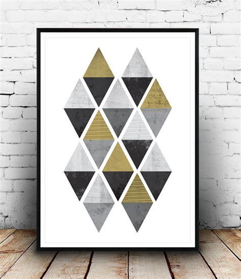 geometric pattern wall art abstract arttriangle pattern print geometric decor black
