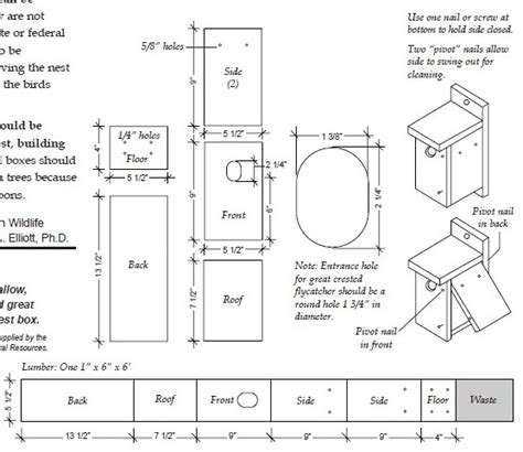 pattern for wood duck box bird house dimensions and other bird house tips wildlife pro