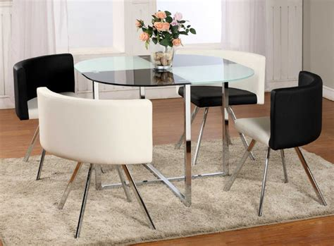 Glass Top Dining Tables And Chairs Extravagant Rounded Frosted Glass Top Leather Dinette Tables And Chairs Contemporary Dining