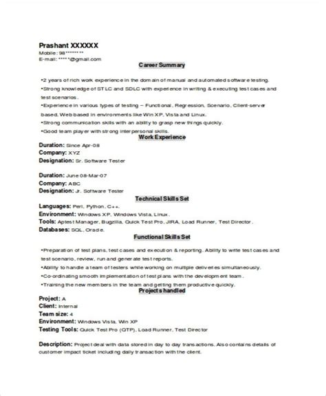Resume Template User Experience experience resume template learnhowtoloseweight net