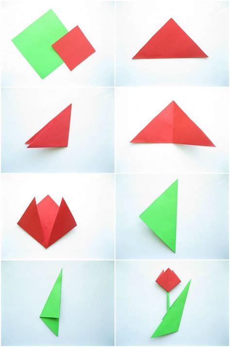 Blume Falten Kindergarten origami blume falten 7 ideen mit faltanleitung f 252 r