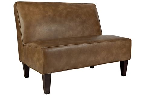 white leather settees dover milk chocolate leather settee at gardner white