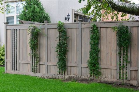 Cedar Fence Sections by Fence Ideas Fence With Inset Lattice Sections