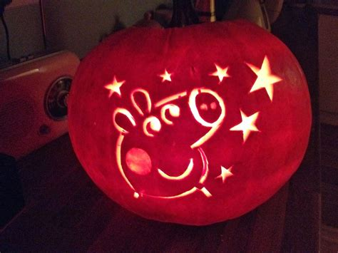 pig pumpkin template the adventures of eleanor peppa pig punkin