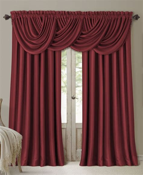 waterfall valance curtains elrene all seasons blackout waterfall 52 x 36 valance