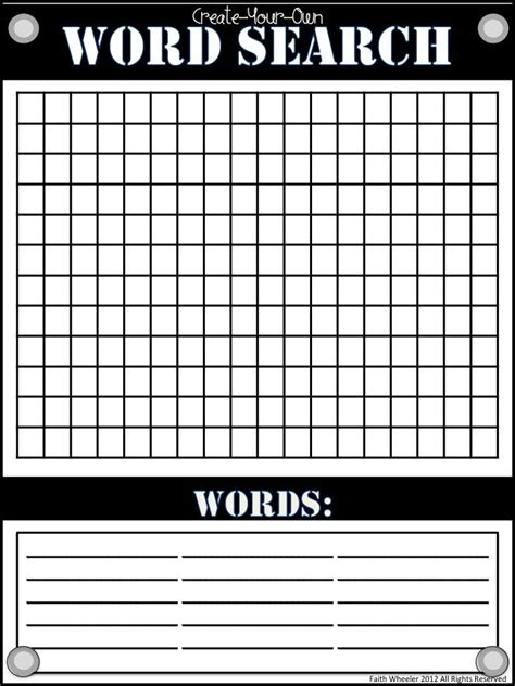 make your own crossword template find a word template invitation template