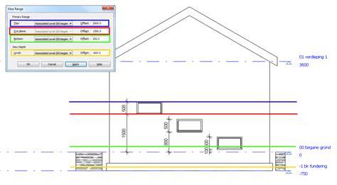 revit tutorial view range 2d plattegronden in revit 2015