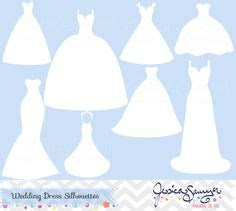 Wedding Announcement Dresses by Instant Bridesmaid Dresses Silhouettes Clipart