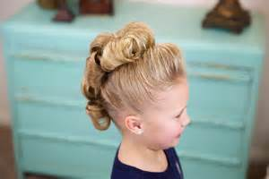 Flower bun hawk hairstyles for dance cute girls hairstyles
