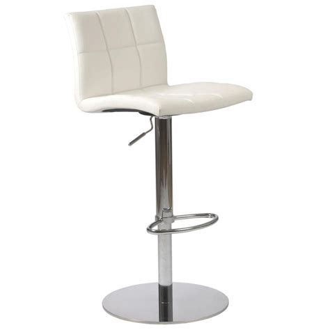 White Bar Stool Chairs Cyd Adjustable Bar Counter Stool White Chrome Bar Stools