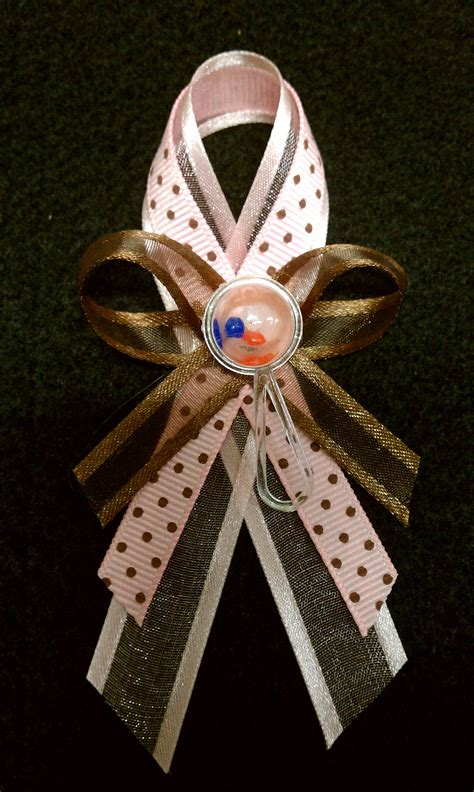Baby Shower Pins Ideas by Baby Shower Pin Ideas Pink Brown Grey Polka Dot Pattern