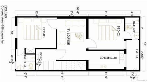 home design for plot 3 marla house map gharplans pk