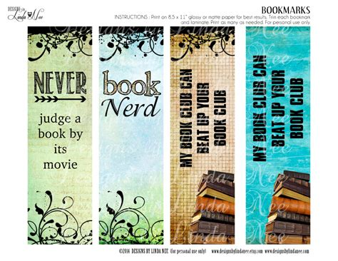 printable bookmarks for books free bookmarks printable book nerd bookmarks instant download