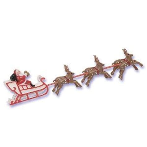 amazon com oasis supply santa on sleigh with reindeer