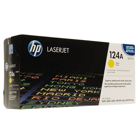 Toner Hp 124 A Yellow Q6002a Original computers mall hp 124a yellow original laserjet