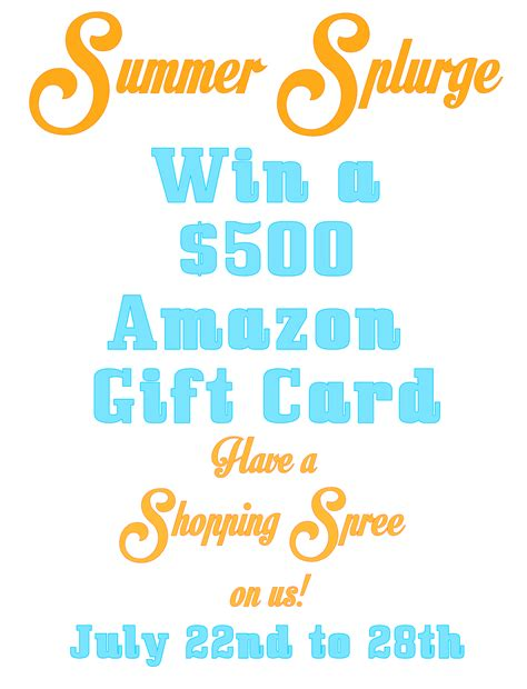 Win A 500 Amazon Gift Card - win a 500 amazon gift card something swanky