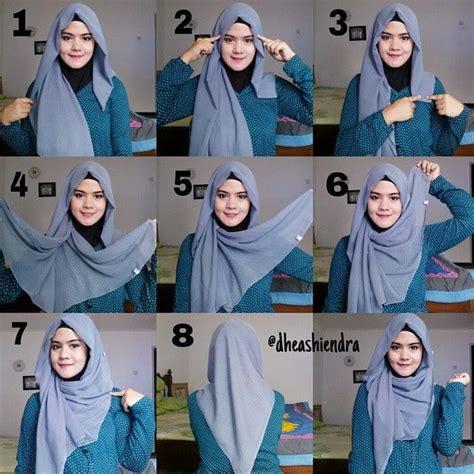 tutorial hijab wajah bulat dan tembem tutorial hijab segi empat untuk wajah bulat dan lebar