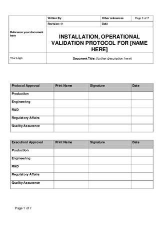 Ioq Template For Medical Devices Sle By Pharmi Med Ltd Issuu Equipment Validation Protocol Template