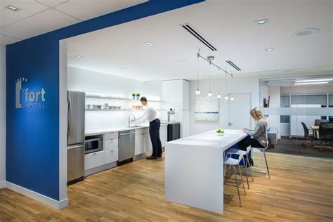 Modern Office Kitchen by Staff Kitchen At Fort Capital Office Interior Design By