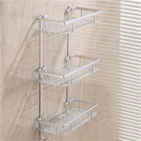 Shower Racks by Hanging Cosmetic Make Up Shower Rack Storage Aluminium Bathroom Soap Kitchen Shelf Accessories