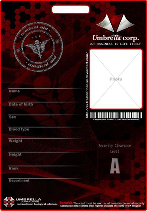 Umbrella Corporation Id Card Template by Blank Umbrella Badge By Kasukitty On Deviantart