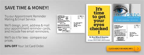 dental recall card template customrecall