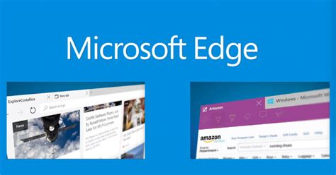 Edge Microsoft Windows 10 Browser | microsoft edge noul browser a lui windows 10