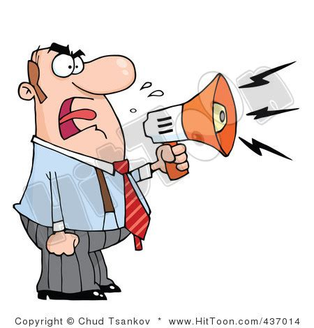 clipart yelling person shouting clipart