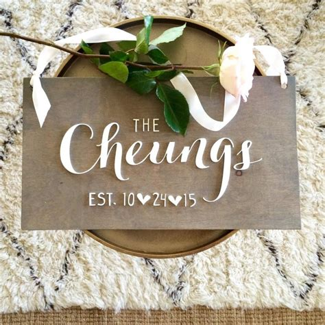 wedding gift names personalized sign laser cut sign wedding gift