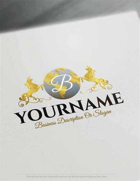 create a logo free free logo maker unicorn globe logo