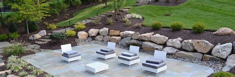 Patio Retaining Walls Blue Tree Landscaping Landscape Montgomery County Lawn