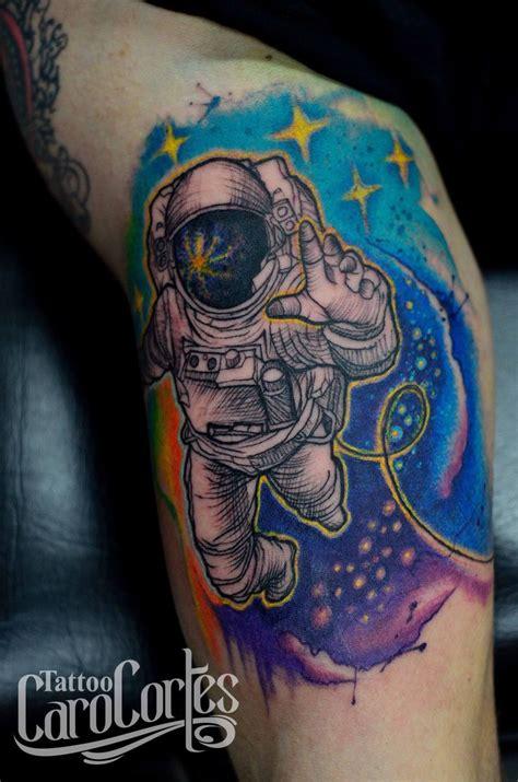 colombian tattoo designs asrtonaut astronauta caro cortes