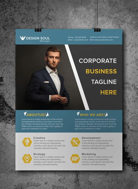 free professional flyer templates free a4 corporate flyer template on behance
