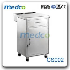 bedside cabinet on wheels cs002 stainless steel hospital bedside cabinets with