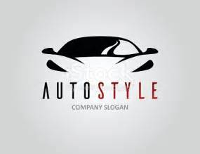 One Car Garage Workshop auto style car logo design with concept sports vehicle