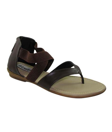 covered toe sandals faith brown open toe covered back faux leather pu sandals