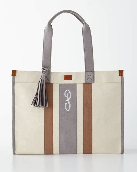 Monogramme Toto by Gray Monogrammed Tote With Tassel