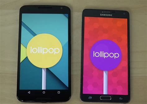 nexus 6 vs galaxy note 4 android lollipop review phonesreviews uk mobiles apps networks - Android Lollipop Phones